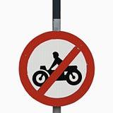 Geen de voertuigenteken van de motorfiets Stock Foto's
