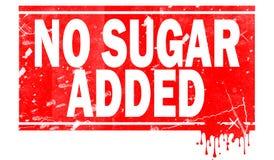 Geen die suiker in rood kader wordt toegevoegd stock illustratie