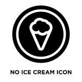 Geen die vector van het roomijspictogram op witte achtergrond, conc embleem wordt geïsoleerd royalty-vrije illustratie