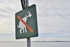 Geen dogpooteken stock illustratie