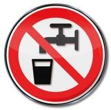 Geen drinkwater Stock Foto's