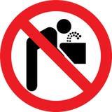 Geen drinkwaterteken Stock Afbeelding