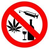 Geen drugs en alcohol vector illustratie