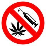 Geen drugsteken Stock Foto