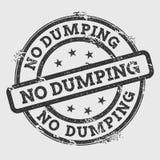 Geen dumpende rubberdiezegel op wit wordt geïsoleerd stock illustratie