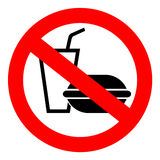Geen fastfood teken royalty-vrije illustratie