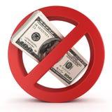 Geen geldconcept Royalty-vrije Stock Afbeeldingen
