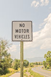 Geen gemotoriseerde voertuigenteken Stock Foto's