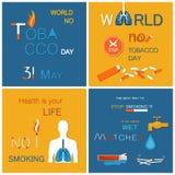 Geen Gezondheid van de Tabaksdag Uw Leven rookt niet royalty-vrije illustratie