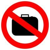 Geen handbagage Stock Foto