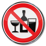 Geen het drinken in deze ruimten stock illustratie