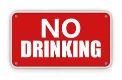 Geen het drinken teken Royalty-vrije Stock Afbeeldingen
