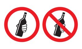Geen het drinken teken Royalty-vrije Stock Fotografie