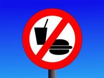 Geen het eten of het drinken teken Stock Foto