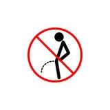 Geen het plassen lijnpictogram, plast verbodsteken, royalty-vrije illustratie