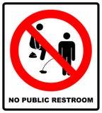 Geen het plassen, verbodsteken, illustratie Royalty-vrije Stock Foto's