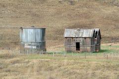 Geen het Schieten schilderde op de oude container van de olieopslag Stock Afbeeldingen