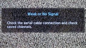 Geen het signaalclose-up van het kanaal wit lawaai stock video