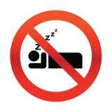 Geen het Snurken Teken Royalty-vrije Stock Foto's