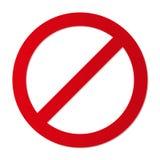 Geen het teken forbiding parkeren enz. van de ingangsbeperking vector illustratie
