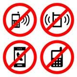 Geen het Tekenpictogram van de Celtelefoon groot voor om het even welk gebruik Vector eps10 Royalty-vrije Stock Foto's