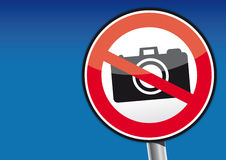 Geen het tekenpictogram van de Fotocamera - illustratie Royalty-vrije Stock Afbeelding
