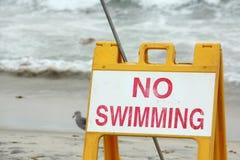 Geen het zwemmen Royalty-vrije Stock Afbeeldingen