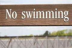 Geen het zwemmen Royalty-vrije Stock Afbeelding