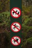Geen Hond, Geen Motorfietsen, Geen Paardrijdenteken vector illustratie