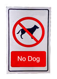 Geen hond stond teken toe Royalty-vrije Stock Foto's