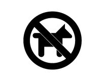 Geen honden Stock Foto's
