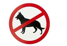Geen honden toegestaan teken Royalty-vrije Stock Afbeeldingen