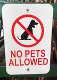Geen huisdieren toegestaan teken stock foto's