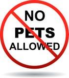 Geen huisdieren toegestaan teken op wit stock illustratie