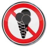 Geen ijs en het eten van roomijs in het veilinglokaal vector illustratie