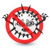 Geen Illustratie van het Virusbeeldverhaal Stock Foto