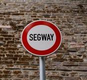 Geen ingang voor seagway teken Stock Fotografie