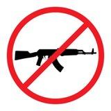 Geen kanonnen toegestaan teken royalty-vrije illustratie