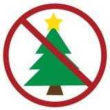 Geen Kerstmis vector illustratie