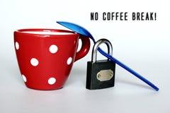 Geen koffiepauze royalty-vrije stock foto's