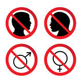 Geen Man en Vrouwenteken Royalty-vrije Stock Afbeeldingen