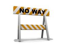 Geen manier! stock illustratie