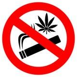 Geen marihuana rokend teken stock illustratie