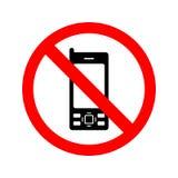 Geen Mobiel Teken van Telefoons vector illustratie