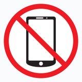 Geen mobiel telefoonteken Royalty-vrije Stock Foto's