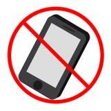 Geen mobil telefoonpictogram Royalty-vrije Stock Foto