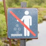 Geen Muntstukken in het Water - IJsland stock foto