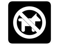 Geen omgekeerde honden Royalty-vrije Stock Afbeelding