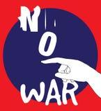 Geen Ontwerp van de Oorlogsaffiche Stock Afbeeldingen