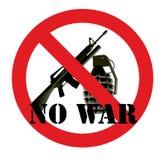 Geen oorlog Stock Foto